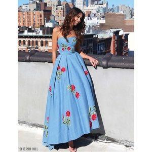Sherri Hill 51154 Denim Dress
